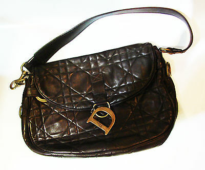 9015a454b328 TIMELESS Christian Dior Brown Leather Bag with Authenticity Cert.   Dustbag!