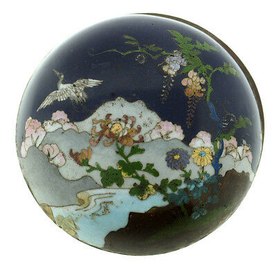 Art Deco C1930 Box Case Jewelry Japanese Cloisonne Fabric Lining Hand Painted