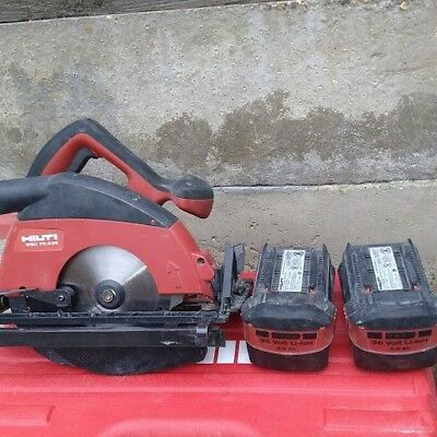 hilti WSC 70-A36 36v circular saw with two batteries