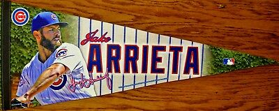 MLB Chicago Cubs JAKE ARRIETA Felt Pennant Made in the USA