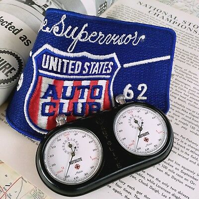 """Extremely Rare Vintage 2X Minerva """"usac Indianapolis 500"""" Race Timing Holder Set"""