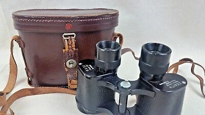 Vintage Zenith Binoculars in Leather Case - 6 x 30 - 75 degree Field
