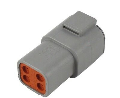 ☀️ (Qty 1) Deutsch DTP04-4P DTP Series 4-Pin Connector Housing Receptacle