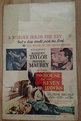 Vintage THE HOUSE OF THE SEVEN HAWKS Movie Poster (1959) ROBERT TAYLOR