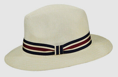 6e07ea1abcd Stetson   Mens Ivory Fedora Hat   New Summer Sun Shady Safari Golf Panama  Style
