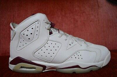 992340a3ea98 GS NIKE AIR Jordan Retro 6 OG BG Off White New Maroon 836342-115 VI ...