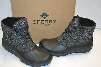 5daf3d133be Sperry TOP SIDER Womens syren gulf DUCK BOOT Ankle Grey Black 9 M MEMORY  FOAM