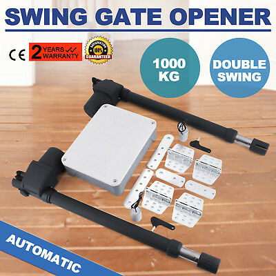 Dual Swing Gate Opener 1000KG Scalable Powered Garden Fencing Double Actuator