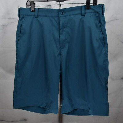 3357ab3b67028 Nike Golf Dri-Fit Shorts Flat Front Tour Performance Casual Teal Size 34