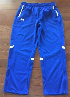 c0b263f601c0 MENS UNDER ARMOUR UA Capital Woven Tapered Leg White Athletic Zip ...