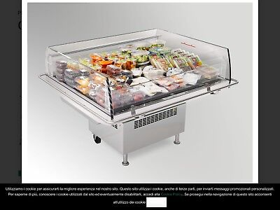 ISLAND DISPLAY FREEZER - OPEN TOP Fish Meat Chiller Refrigerator In CO DURHAM