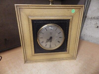 Vintage Large Antique Smith 8 Day 4 Jewel Pocket Watch Style Wall Clock Pics