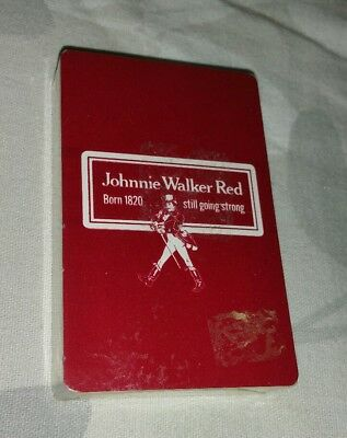 Johnnie Walker red Playing Cards Red Deck New Sealed Look ;)