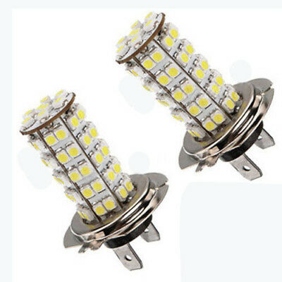 Pair Of Lamps Lights H7 68 Smd Led 6000K Position Auto Tuning White 12V 5W H2A5