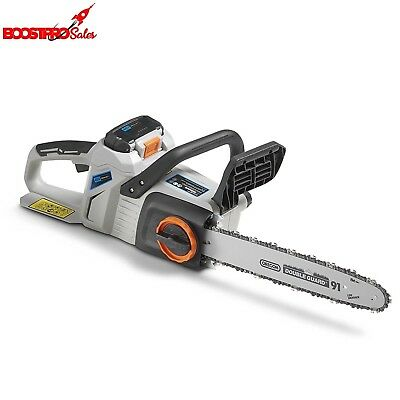 "Cordless Electric Chainsaw 14"" with Kickback Handle Li-Ion 40V Battery & Charger"