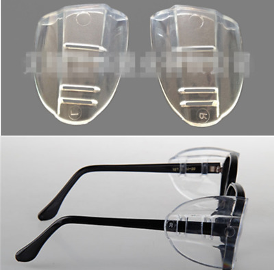 For Eye Glasses Universal Flexible Protective Clear Cover Side Shields Flap Side