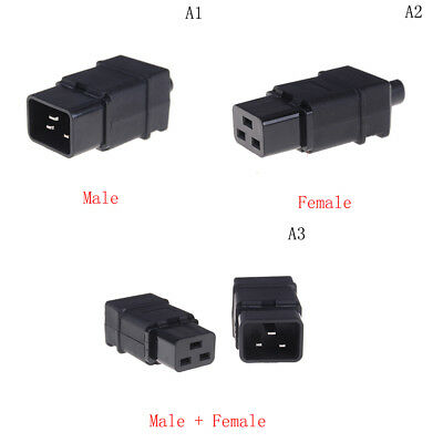 Rewirable IEC C19 Connector C19 Socket Power Cord Adapter Connector MW