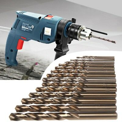 High Speed Steel M35 HSS Cobalt Twist Drill Bit Set 1.5-10mm Power Tools 15Pcs