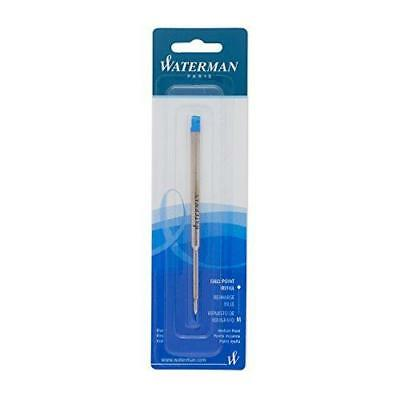 Waterman Ballpoint Refill for Ballpoint Pens, Medium point, Blue ink (834264)