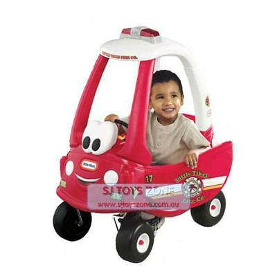Little Tikes Fire Ride N Rescue Ride On Cozy Coupe Kids Outdoor Activity Car