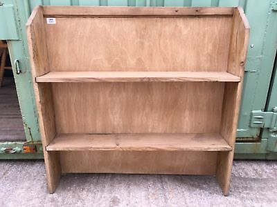 Reclaimed Old Pine Bookcase With 2 Shelves 90x93cm