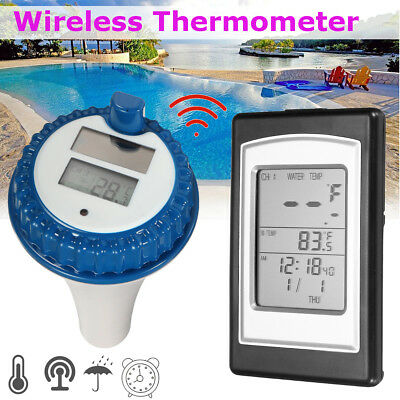 Wireless Solar Swimming Pool Thermometer Indoor Temperature Gauge Measure Meter