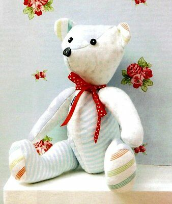 "Keepsake Memory Teddy Bear Full Instructions 25cm/10"" Sewing Pattern"