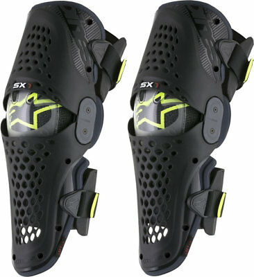 Alpinestars Sx1 Knee Guards Black Anthracite Hinged Motocross Mx Enduro Braces