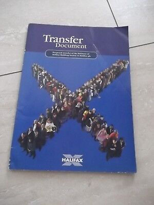 Halifax Building Society, Transfer Document.