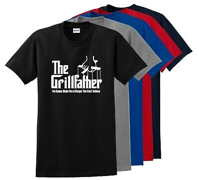 The Grillfather Parody T-Shirt Funny God Father Father's Day Tee Shirt S-5XL