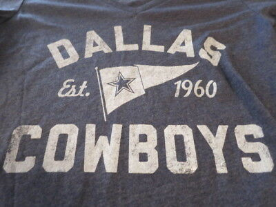 NWT Authentic DALLAS COWBOYS FOR HER womens T-SHIRT blue  ,medium, large