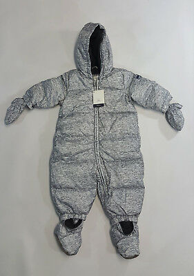 52fb93106 NWT Baby Gap Boys Size 6 12 18 Months Gray Heather Puffer Down Snowsuit 1  of 4 See More