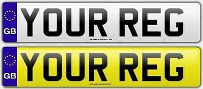 Pair Standard GB Euro Number Plates 100% MOT Compliant - FREE POST Car / Van