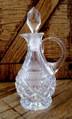 Vintage Cut Glass Cruet With Stopper