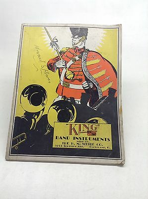 "Vintage 1929 H.N. White ""King"" Band Instruments Catalog"