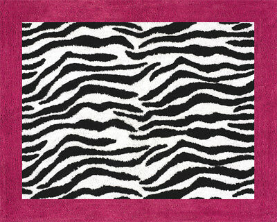 Baby Kid Teen Floor Rug for Sweet Jojo Pink & Black Funky Zebra Girl Bedding Set