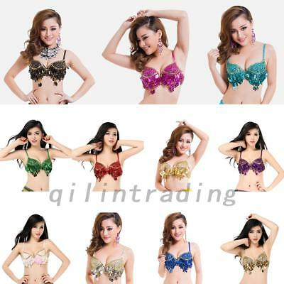 Belly Dance Camisole/Tops Sequin Bra Vest Sexy Tops Costume Night Club 10 Colors