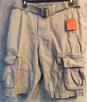 60b93fd22e NWT Mossimo Men's Solid Belted Cargo Shorts Light Gray/513439 - Size 28