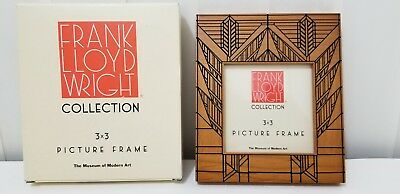 Frank Lloyd Wright Wood 3 X 3 Picture Frame From Moma Arts Crafts