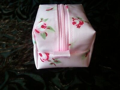 Dummy Soother Pacifier Case Holder Handmade Pink Rosebud Oilcloth