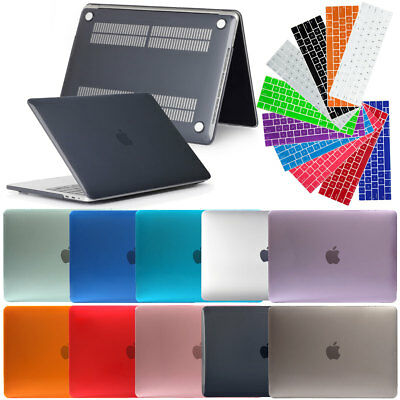 "Hard Rubberized Shell Case+ Laptop Keyboard Cover For Macbook Pro Retina 13"" 15"""