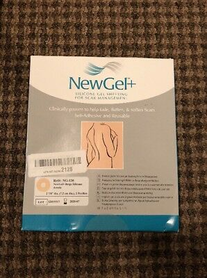 NewGel Silicone Gel Sheets for Scar Management,Beige Areola, 2/pcs OPEN BOX