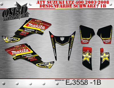 Motostyle Mx Dekor Kit Atv Suzuki Ltz 400 2003-2008 Graphic Kit E3558 B