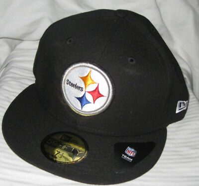 78f5de40f01 Pittsburgh Steelers Nfl Hometown Hit New Era 59Fifty Fitted Black Hat cap  Nwt