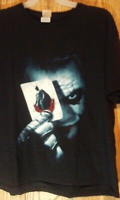 5672bf520 Joker Batman The Dark Knight Playing Card Men's Shirt Size XL Doublesided  Black
