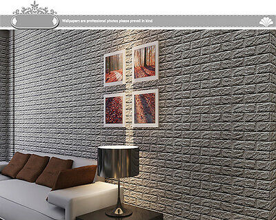 Pe espuma 3d con relieve ladrillo piedra adhesivo de pared for Pannelli adesivi 3d