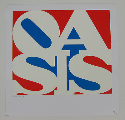 OASIS Little By Little 2002 US Promo LITHOGRAPH Simon Halfon LIMITED Numbered
