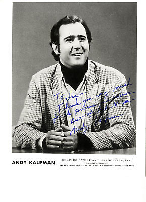 Andy Kaufman Taxi Signed 8'' x 10'' Photo