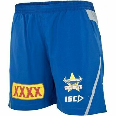 NQ Cowboys NRL 2018 Players ISC Training Shorts Adults & Kids Sizes ALL 1 PRICE!