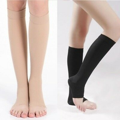 9431ea2fd3 OPEN TOE Compression Socks Support Stockings Men's Women's S~XXL ~ (3 Pairs)